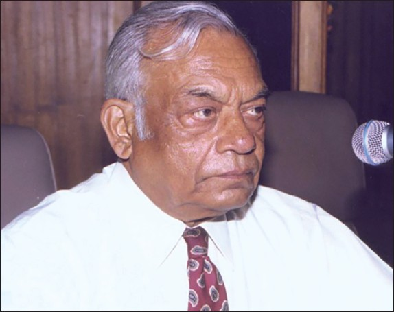 Figure 1: Professor Rajendra Tandon, Master clinician, teacher, mentor and role model for many generations of cardiologists in India; this picture was obtained at the annual conference of the Pediatric Cardiac Society of India, in the year 2000
